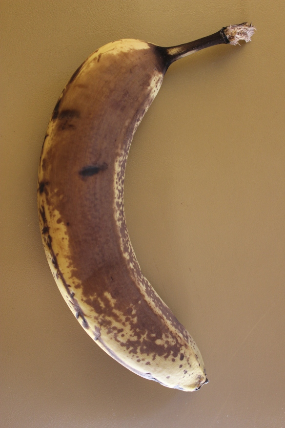 Seriously ripe bananas are especially sweet.